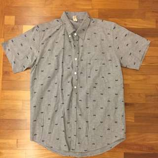 Printed Short Sleeve Casual Shirt - Men's