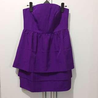 Purple Tube Cocktail Dress