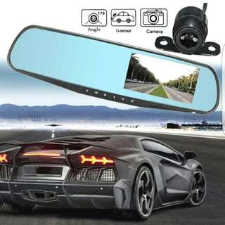 Full HD 1080p Dashcam Front And Rear Camera With Sensor