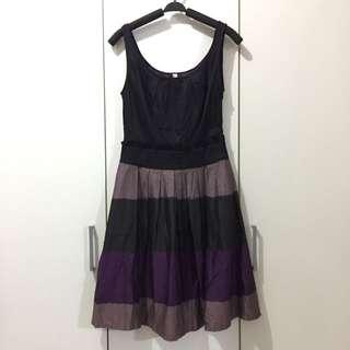 Colour Block Flare Dress