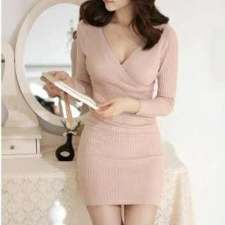Korean Knitted Dress