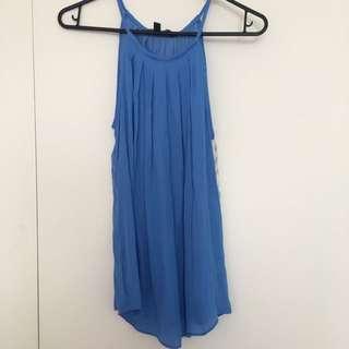 Glass ons Blue Silk Singlet