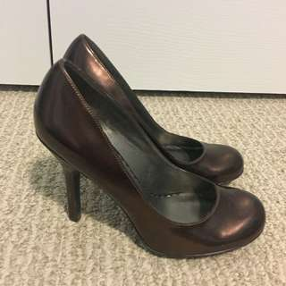 Jessica Simpson Copper Round Toe Pumps