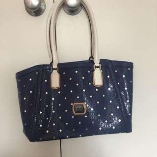 Blue And White Guess Handbag