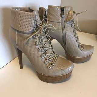 Beige Stilettos/Boots