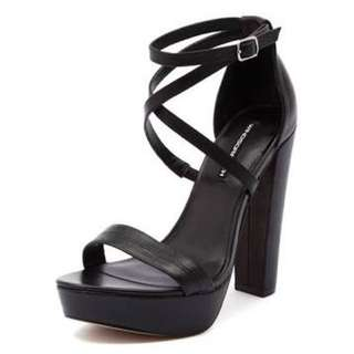 Windsor Smith Black Platform Sandals
