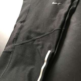 Nike Mesh Panelled Crop Tights Size XS