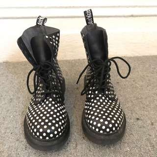 Black And White Spot Doc Marten's
