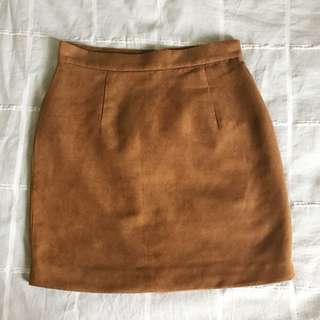 Bardot Tan Suede Skirt
