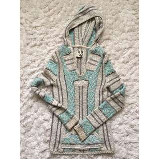 Aritzia TNA Baja Hooded Sweater size XXS