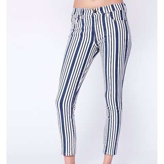 Free People Striped Jeans size 28
