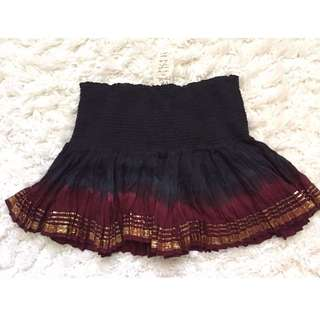 Free People FP One Shine Slip Skirt Red/Navy Blue size L New