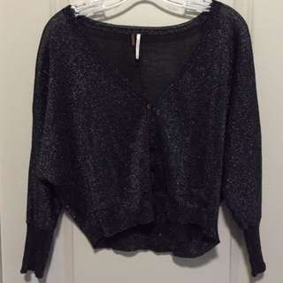 Free People Sparkle V-Neck Cardigan size S