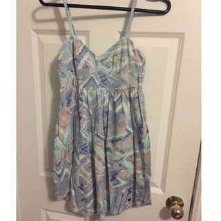 TNA Aritzia Printed Bustier Dress size XS New