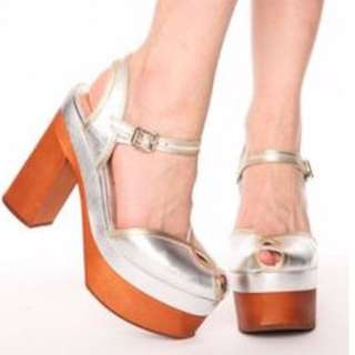 Jeffrey Campbell Nick Says Silver Heels RARE size 8 NWB