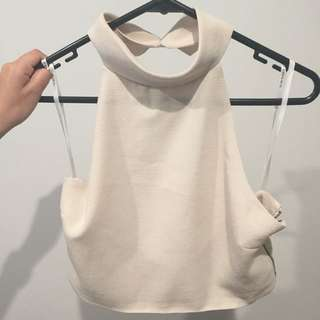 edge backless high neck Top