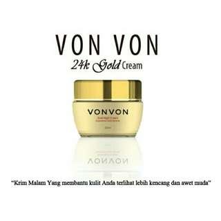 cream night vonvon gold 24K