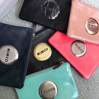 Assorted Mimco pouches