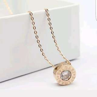 Brand New Rose Gold Bvlgari Necklace
