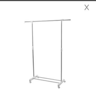 White/Silver Clothing Rack