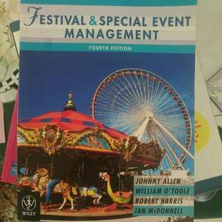 Festival And Special Event Management, Unisa Tourism And Event Management Course Textbook