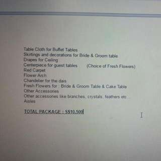 Selling Off My Own Wedding Package $10500