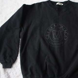 Vintage Club Monaco Classic Large Logo Sweatshirt, Large