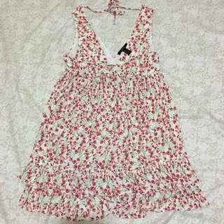 Forever 21 Floral Red Dress