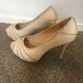 Forever New Nude Diamanté Heels