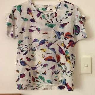 Bird Print Top