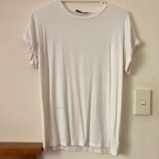 White T Shirt With Back Detail