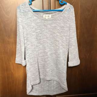 New Look Knit Sweater Light Grey Size 6