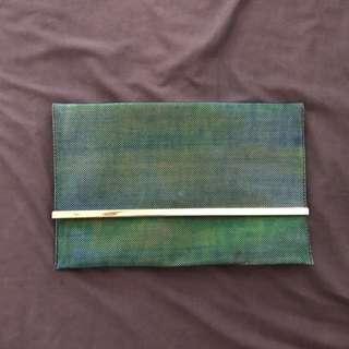 Mermaid Blue Green Clutch