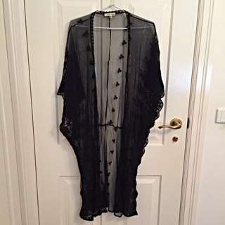 Gorgeous Black Cape With Woven Detailing Size S/M