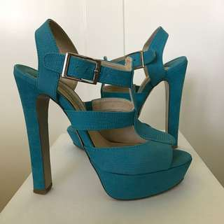 Tony Bianco Turquoise Heel