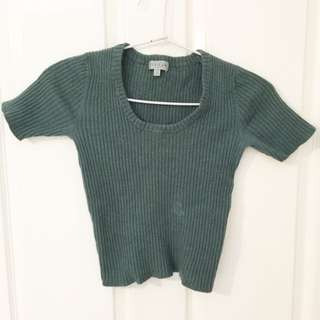 Xsmall Green Crop Top