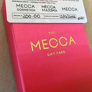 $200 Mecca maxima Gift Card