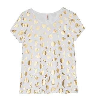 GORMAN Shiny Moon Moth Top T-shirt Size 6 Or XS