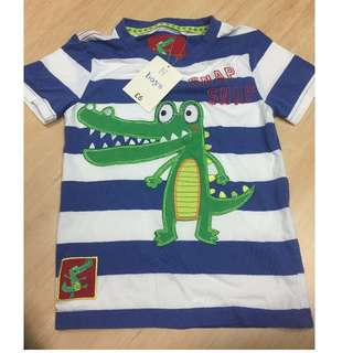 BNWT TU Boys T-Shirt w/embroidered croc, Size 4-5