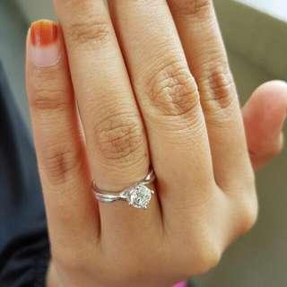 0.74 Carat Solitaire Diamond Ring