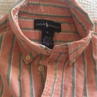 Polo Ralph Lauren Boys Striped Shirt size 6