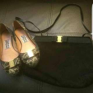 Salvatore Ferragamo Set Shoes and Bag
