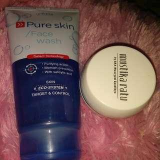 Oriflame Face Wash & Mustika Ratu Night Cream