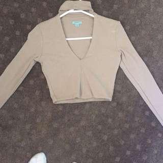 KOOKAI Long Sleeve Crop With Choker ( Size 1 )