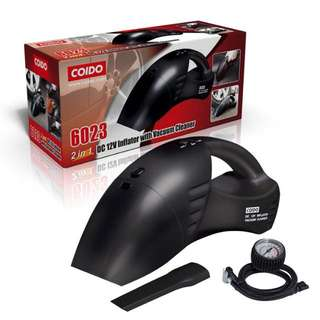 2 In 1 Car Vacuum Cleaner + Tyre Inflator - Coido 6023