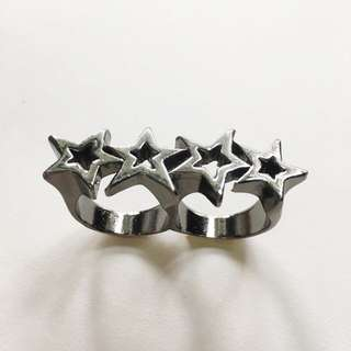 Stars Double Fingers Ring