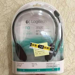 Logitech 羅技 立體聲耳機麥克風 h110