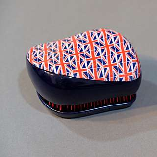 Sisir Tangle Teezer Compact Styler - British Flag Instant Detangling Hairbrush