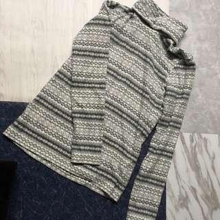 Uniqlo打底衫 粒粒絨 有質感 灰色花色