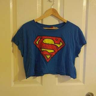 Crop Superman Shirt*